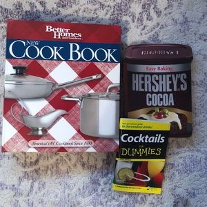 Set of three cookbooks/cocktail books